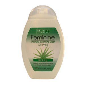 BEAUTY FORMULAS Жидкость для женской интимной гигиены с Алоэ вера