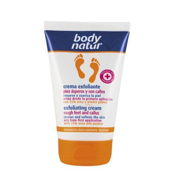BODY NATUR Крем-скраб для ног против натоптышей и мозолей