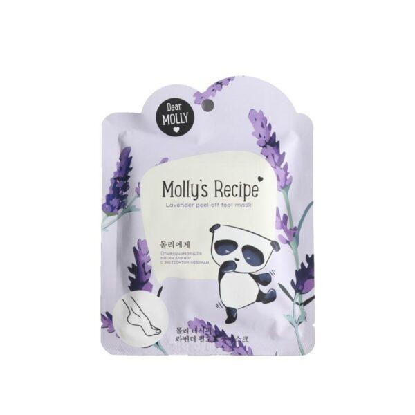 "DEAR MOLLY Отшелушивающая маска для ног с экстрактом лаванды ""Рецепты Молли"""