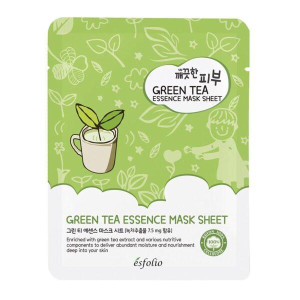 ESFOLIO Маска для лица ESFOLIO зеленый чай