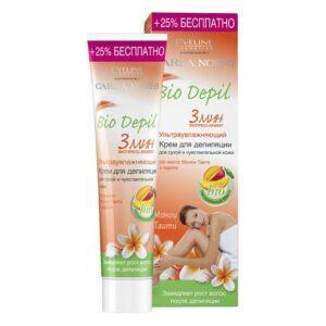 EVELINE Крем для депиляции BIO DEPIL ультраувлажняющий (для сухой и чувствительной кожи)