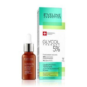 EVELINE Сыворотка для лица GLYCOL THERAPY 5% для проблемной кожи