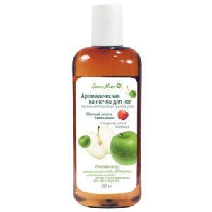 """GREEN MAMA Ароматическая ванночка для ног """"Яблочный уксус и Чайное дерево"""""""