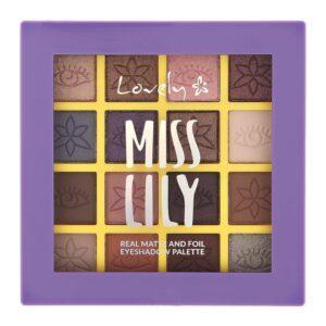 LOVELY Палетка теней для век MISS LILY