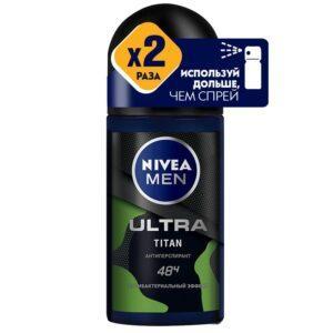 NIVEA Мужской антиперспирант ролик антибактериальный эффект Titan