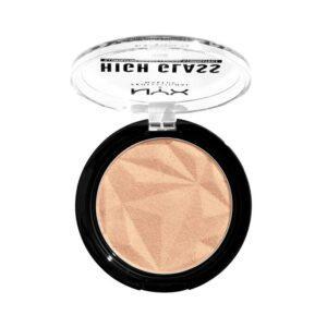 NYX Professional Makeup Прессованный хайлайтер с сияющими микро-частицами HIGH GLASS ILLUMINATING POWDER