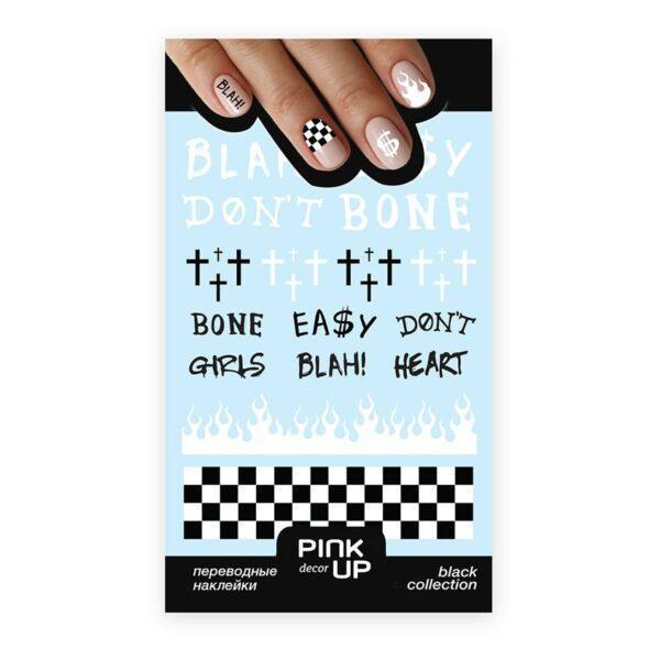 PINK UP Наклейки для ногтей BLACK AND WHITE