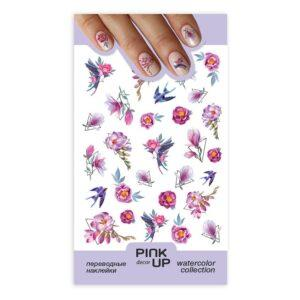 PINK UP Наклейки для ногтей WATERCOLOR