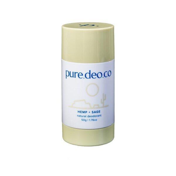 PURE DEO CO Дезодорант-стик без солей алюминия с пенькой и шалфеем