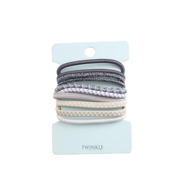 TWINKLE Набор резинок для волос Gray
