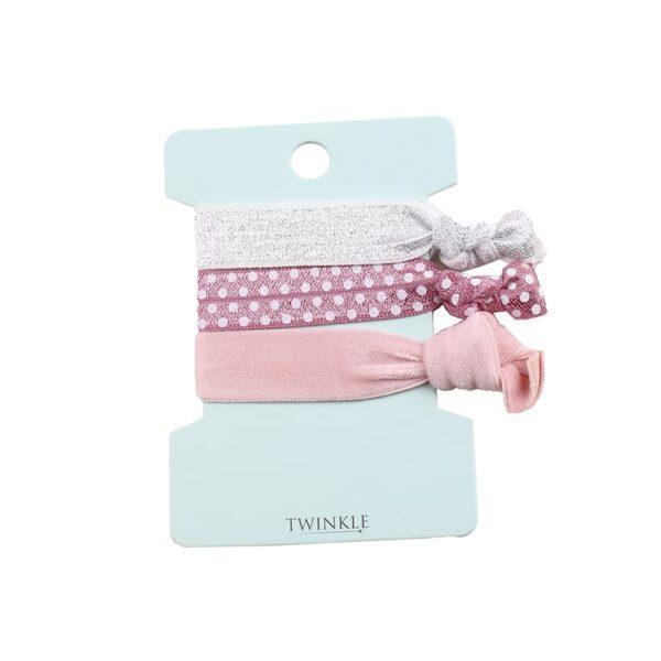 TWINKLE Набор резинок для волос Pink