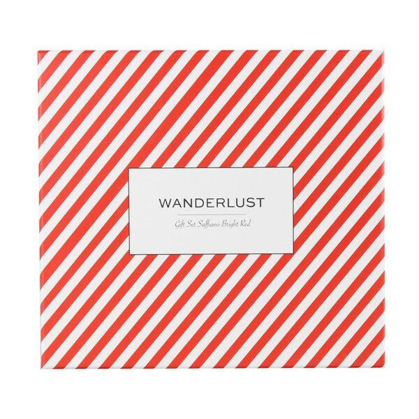 WANDERLUST Подарочный набор Saffiano Bright Red. Комплект: кошелек + бирка на багаж.