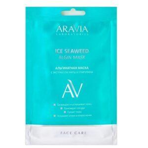 ARAVIA Маска Ice Seaweed Algin Mask Альгинатная с Экстрактом Мяты и Спирулины