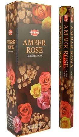 Аромапалочки амбер и роза hexa HEM (20 г)