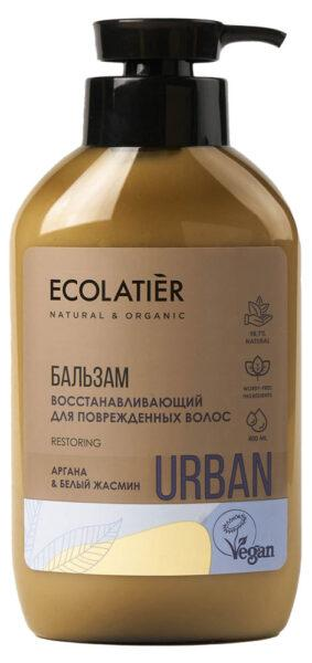 Бальзам для волос Ecolatier Восстанавливающий для поврежденных волос аргана и белый жасмин