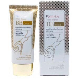 ББ крем с муцином улитки FarmStay Snail Repair BB Cream SPF50
