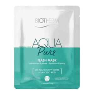 BIOTHERM Тканевая маска для лица Увлажнение и Очищение Aqua Pure Flash Mask
