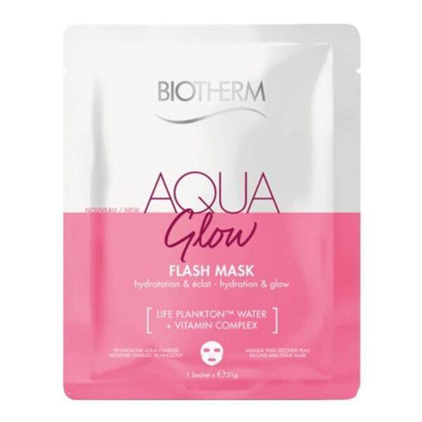 BIOTHERM Тканевая маска для лица Увлажнение и Сияние Aqua Glow Flash Mask