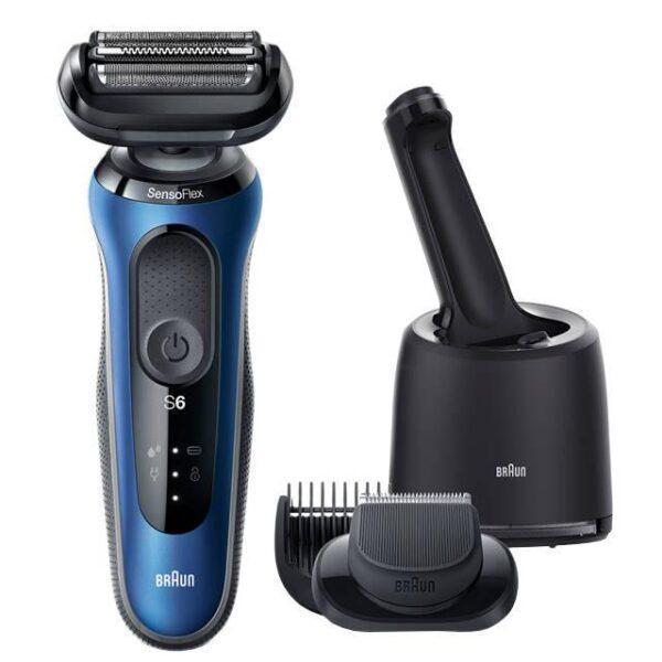 бритва электрическая BRAUN 60-B7500cc Black/Blue аккум. самоочист.