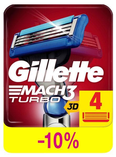 Cменные кассеты для бритья Gillette Mach 3 Turbo