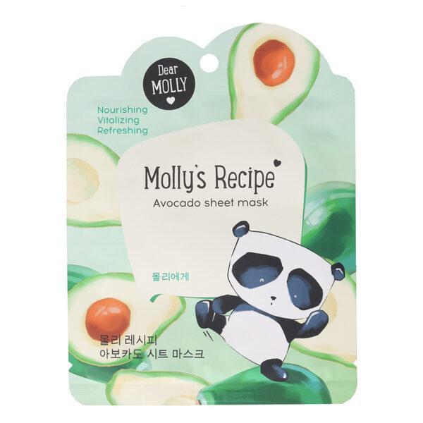 """DEAR MOLLY Тканевая маска """"Рецепты Молли. Авокадо"""""""