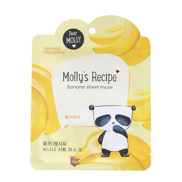 """DEAR MOLLY Тканевая маска """"Рецепты Молли. Банан"""""""