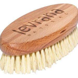 Деревянная щетка для сухого массажа с натуральным ворсом из мексиканского кактуса