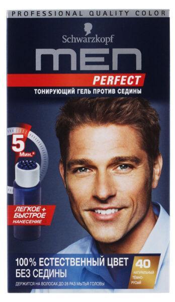 Гель для волос тонирующий мужской Schwarzkopf Men perfect Натуральный темно-русый тон 40