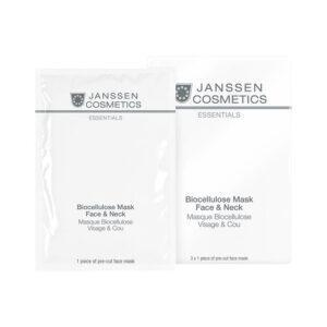 JANSSEN COSMETICS Лифтинг-Маска Biocellulose Mask Face & Neck для Лица и Шеи с Голубикой