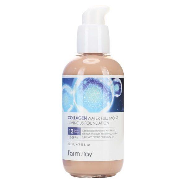 Коллагеновый тональный крем с эффектом сияния FarmStay Collagen Water Full Moist Luminous Foundation #13