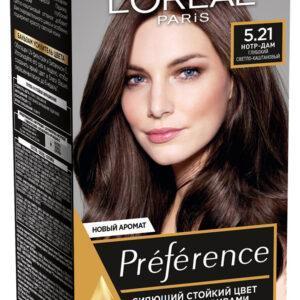 Краска для волос L'Oreal Paris Preference глубокий светло-каштановый тон 5.21