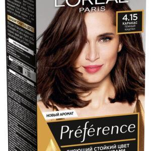 Краска для волос L'Oreal Paris Preference каракас тон 4.15