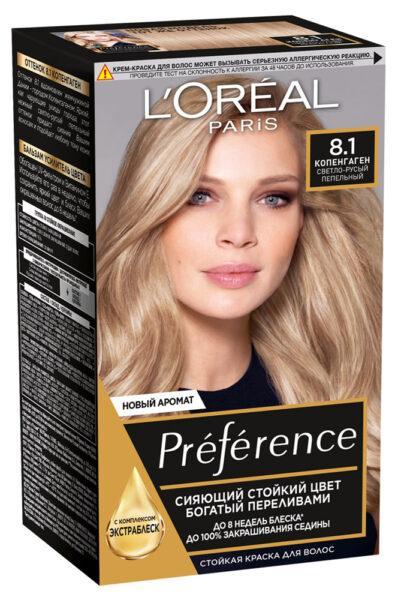 Краска для волос L'Oreal Paris Preference Копенгаген тон 8.1