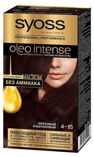 Краска для волос Syoss Oleo Intense ореховый каштановый тон 4-15
