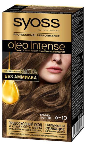 Краска для волос Syoss Oleo Intense Тёмно-русый тон 6-10