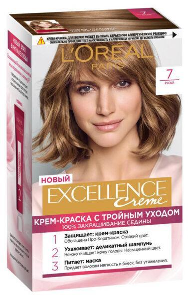 Крем-краска для волос L'Oreal Paris Excellence светло-русый пепельный тон 7