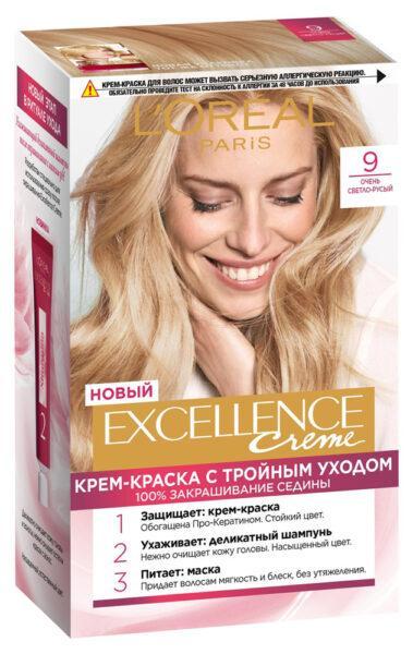 Крем-краска для волос L'Oreal Paris Excellence светло-русый тон 9