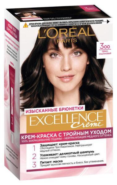 Крем-краска для волос L'Oreal Paris Excellence темно каштановый тон 3