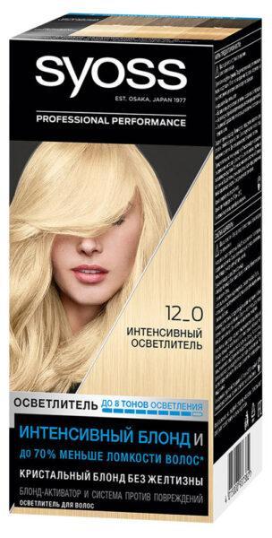 Крем-краска для волос Syoss Color Интенсивный осветлитель тон 12-0