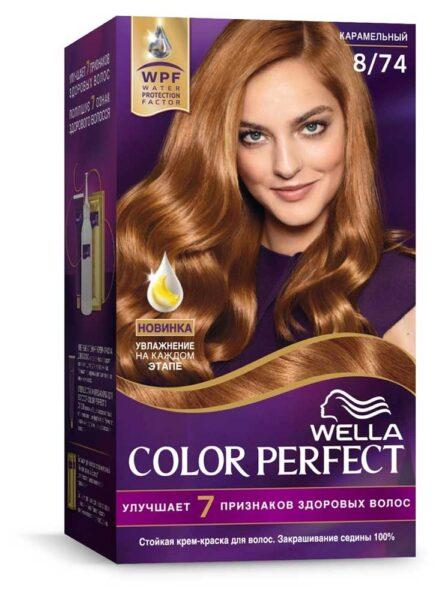 Крем-краска для волос Wella Color Perfect карамельный тон 8/74