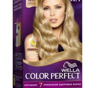 Крем-краска для волос Wella Color Perfect светло пепельный блонд тон 10/1