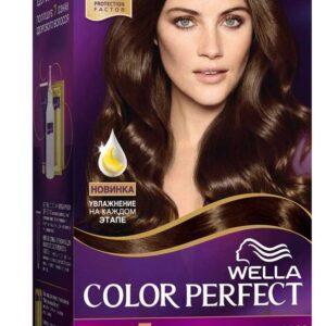 Крем-краска для волос Wella Color Perfect темный шатен тон 4/0