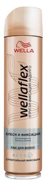 Лак для волос WellaFlex блеск и фиксация суперсильная фиксация