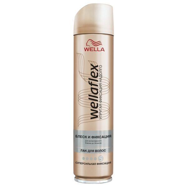 лак для волос WELLAFLEX Блеск/Фиксация 250 мл