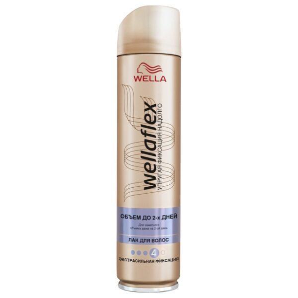лак для волос WELLAFLEX Объем 2 дня 250 мл (синяя)