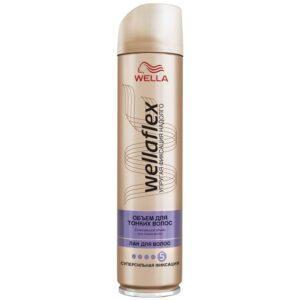 лак для волос WELLAFLEX Объем для тонких волос 250 мл