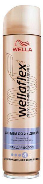 Лак для волос Wellaflex объем до 2-х дней экстрасильная