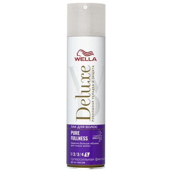 лак д/волос WELLA Deluxe Pure Fullness суперсильная фиксация 250мл