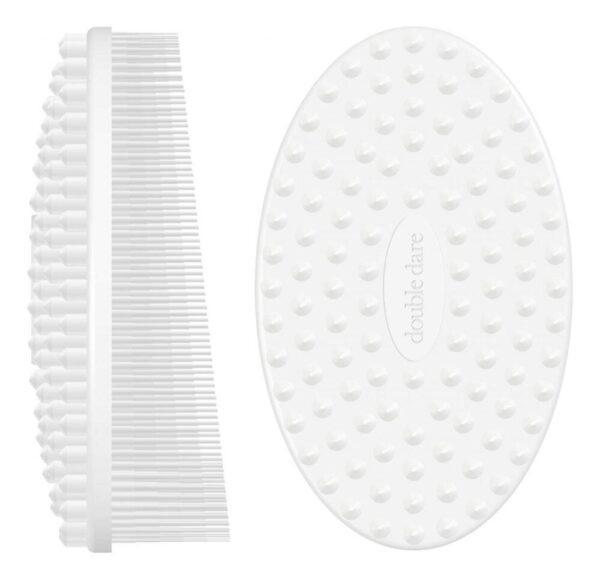 Массажная силиконовая щетка I.M. Buddy: Белая