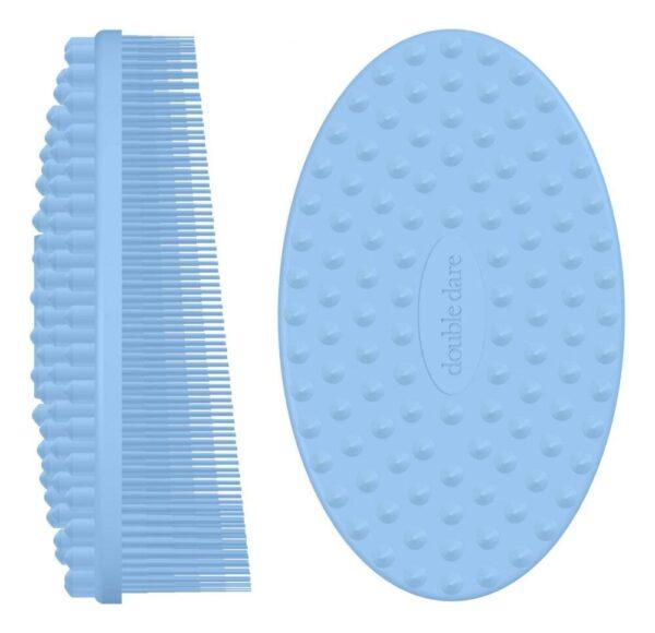 Массажная силиконовая щетка I.M. Buddy: Голубая